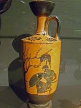 Photo: Achilles on an Attic vase .......... Achilles op een Attische Lekythos