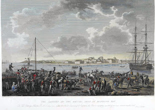Photo: desembarque dos ingleses na foz do Mondego Agosto 1808