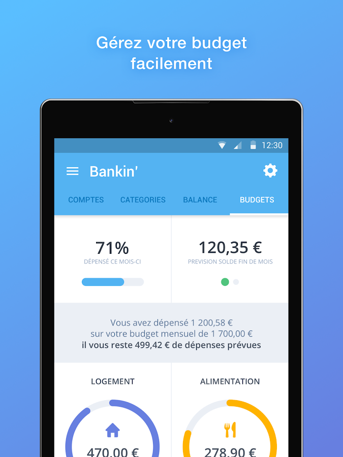 Bankin', mon Budget ma Finance – Capture d'écran