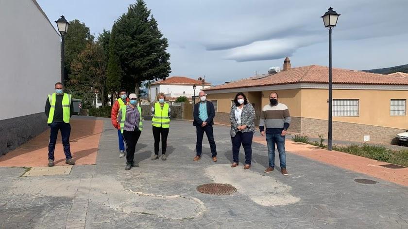 Matilde Díaz durante su visita al municipio de Fondón.