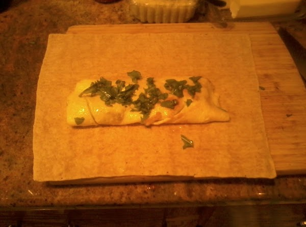 Warm your lavash for a few seconds in the microwave and  slide the...