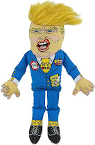 Fuzzu Presidential Parody Donald Dog Toy - Small
