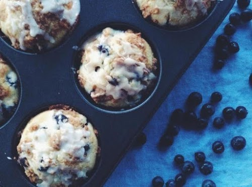 """Brown Sugar Blueberry Muffins Recipe """"These brown sugar blueberry muffins are a..."""
