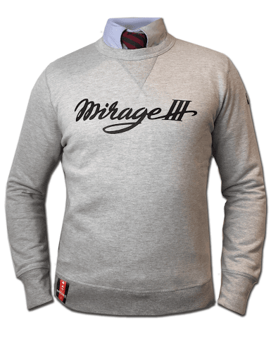 SWEAT MIRAGE III DASSAULT BARNSTORMER VETEMENTS COLLECTION OFFICIEL