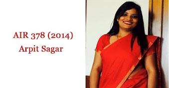 IAS Topper's Strategy - Arpit Sagar (AIR 378)