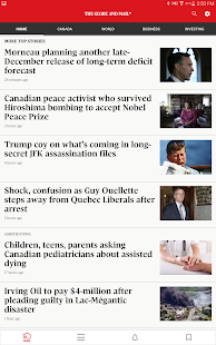 The Globe and Mail: News – Vignette de la capture d'écran