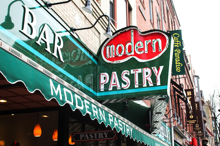 Cool, classic signage for Modern Pastry.