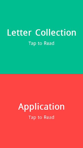 Letter and Application