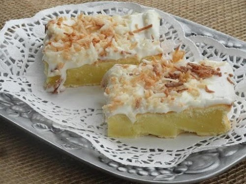 "Click Here for Recipe: Coconut Topped / Cream Cheese Sheet Cake ""BEST..."