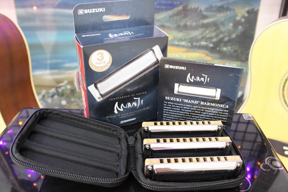 Kèn Harmonica - Suzuki Manji M-20 Pack (key A, C, G)