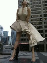 Photo: Pulling Marilyn's leg!