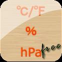 温湿気圧計(温度、湿度、気圧計) Free icon