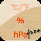 温度,湿度,气压计 免费 icon