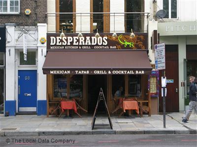Desperados On Upper Street Restaurant Mexican Tex Mex In Islington London N1 0ny