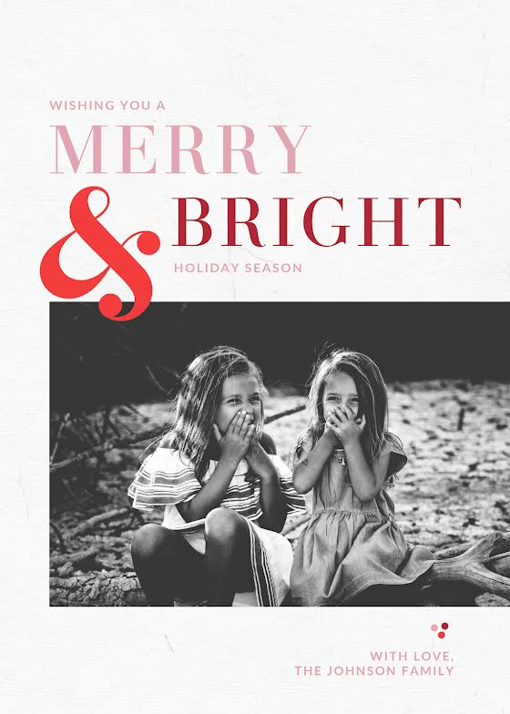 Merry & Bright Wishes - Christmas Card Template