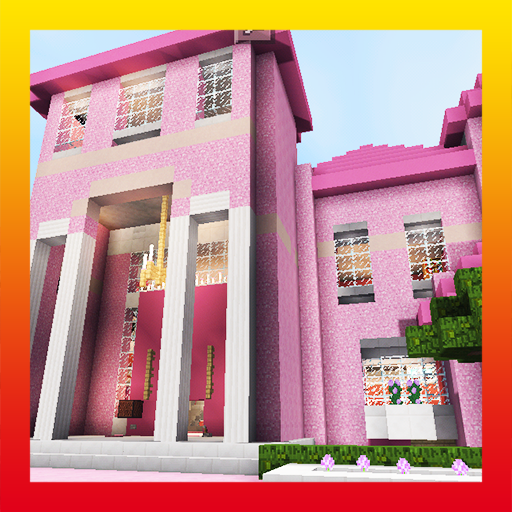 Pink Dream House. Map for MCPE