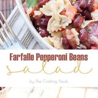 Farfalle Pepperoni Beans Salad
