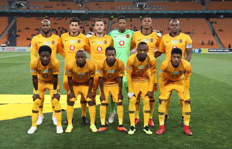 Kaizer Chiefs Team Picture (Back) Ramahlwe Mphahlele, Leonardo Castro, Daniel Cardoso, Virgil Vries, Siyabonga Ngezana, Willard Katsande (Front) Siphelele Ntshangase, Siphosakhe Ntiya-Ntiya, Joseph Molangoane, Khama Billiat, Dumsani Zuma during the 2018 MTN8 football match between Kaizer Chiefs and Free State Stars at Soccer City, Johannesburg on 11 August 2018.