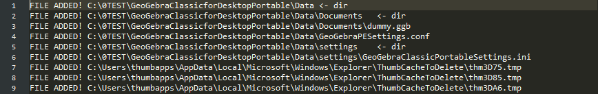 Make sure it only leave traces in Data/App folder