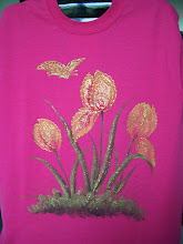 Photo: 105 Tulipes and butterfly. Color: Hot Pink. $29.00