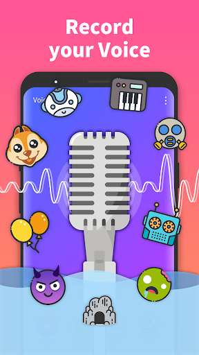 Voice Changer PRO - recording, changing voice - screenshot