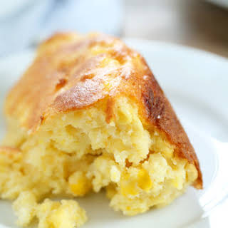 Easy Gluten Free Sweet Corn Spoon Bread.