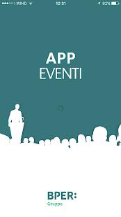 Gruppo BPER - APP Eventi - náhled