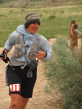 Photo: 100-mile extraordinaire Michelle Schwartz going strong on her home trails.