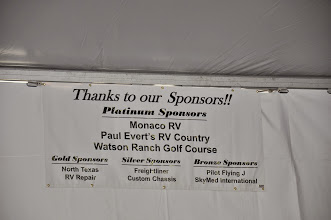 Photo: Thanks to our Sponsors - Monaco RV, Paul Evert's RV Country, Watson Ranch Golf Course