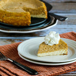 Low-Sugar (or Sugar-Free) Layered Pumpkin Cheesecake.