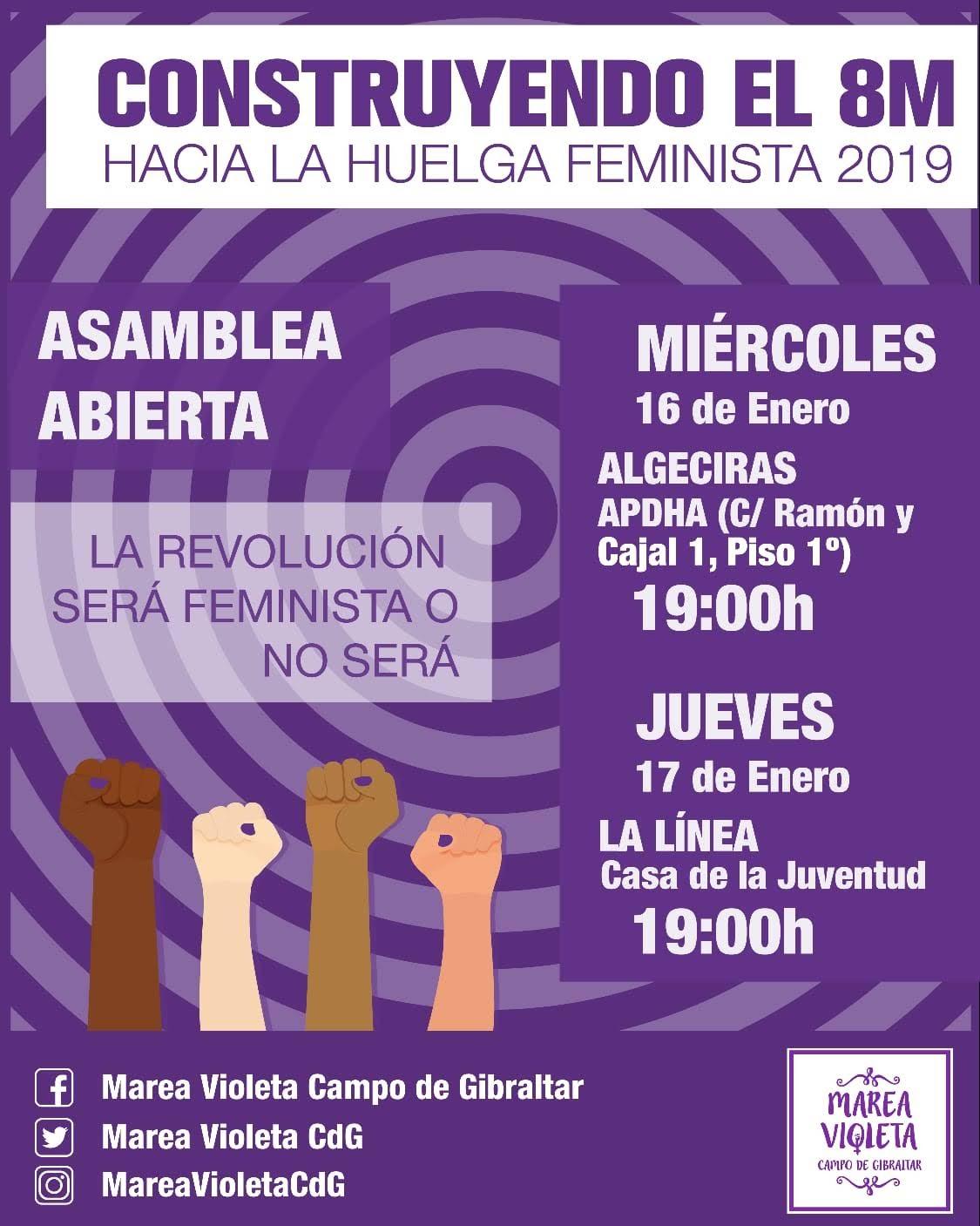 Marea Violeta hace un llamamiento a la comarca para construir la huelga feminista del 8 de marzo