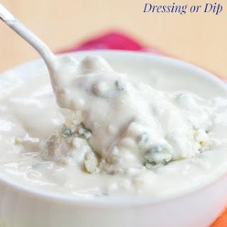 Greek Yogurt Blue Cheese Dip or Dressing.