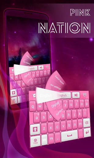 粉紅色的民族鍵盤