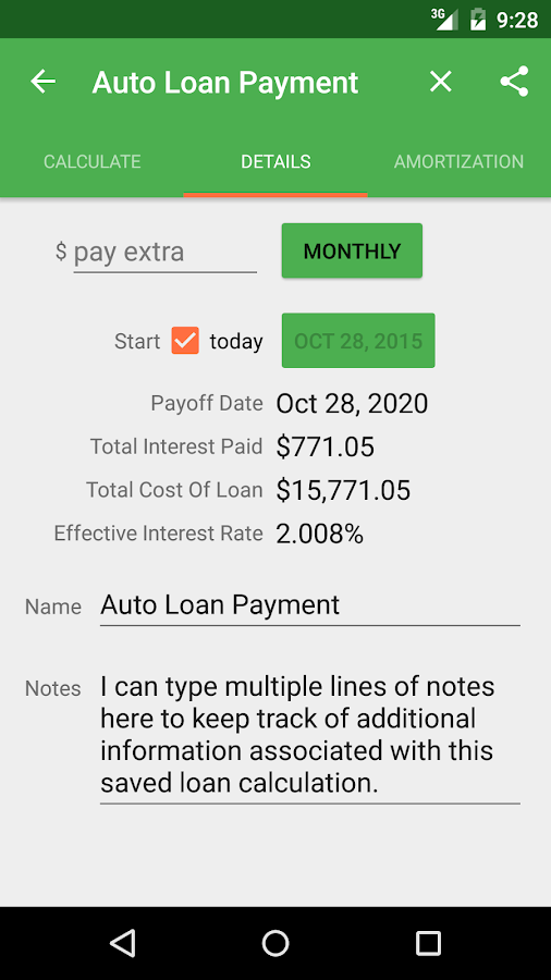 additional payment calculator