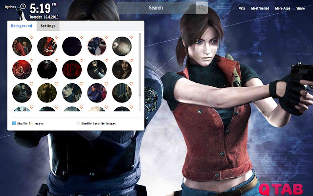 Resident Evil 2 Remake New Tab Wallpapers