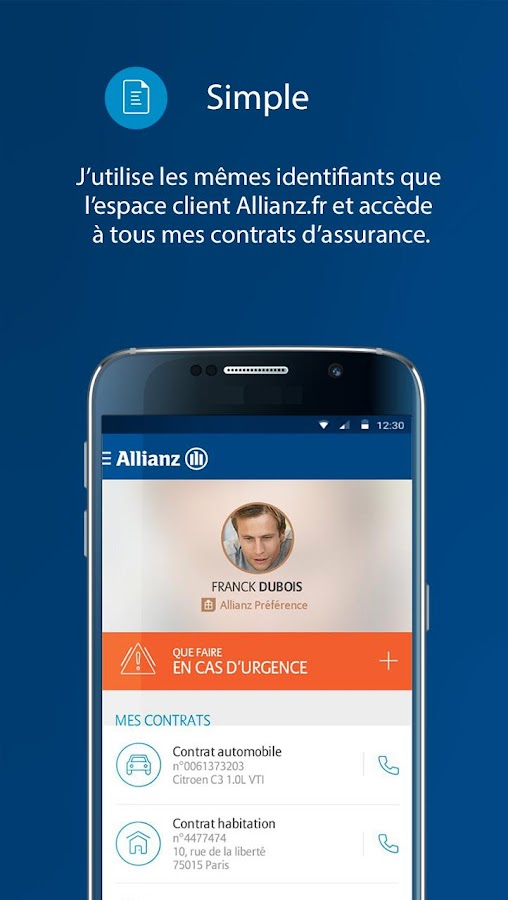 mon allianz mobile android apps on google play. Black Bedroom Furniture Sets. Home Design Ideas