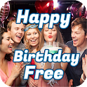 Happy Birthday Free With Name and Music icon