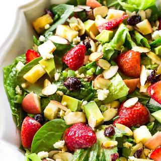 Fruit, Avocado, and Feta Salad.