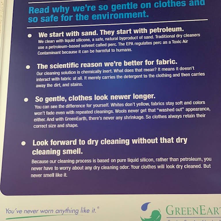 GreenEarth Cleaners (Publix Mall) - Purely Odorless! Non