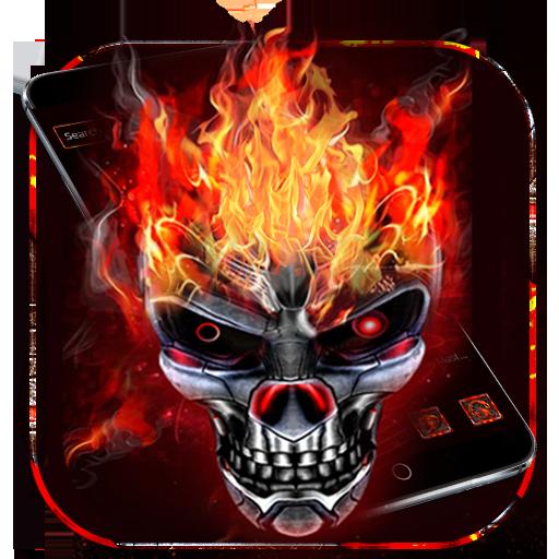 Seram tengkorak tema api tengkorak - Apl di Google Play