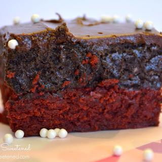 Red Velvet Brownie Oreo Truffle Bars