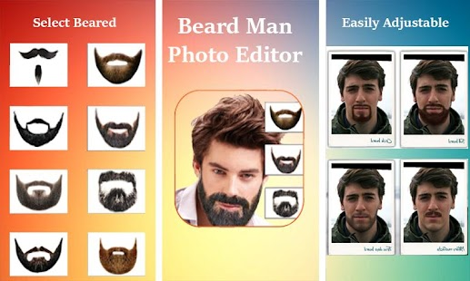 Man Face Editor AppCool BeardHairstyleMustache Android Apps - Hairstyle beard app