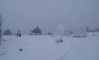 Espectaculares imágenes de la nevada en Calar Alto