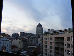 Photo: Sun setting over Lyon.