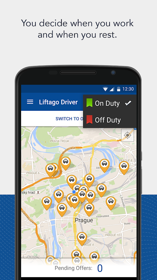 Liftago Driver- screenshot