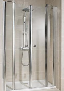 Portes de douche battantes en niche, 4 éléments (largeur > 1200 mm)