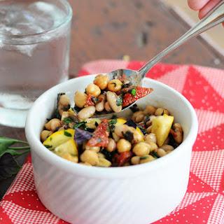 Five Minute Super Bean Sun-dried Tomato & Basil Salad {Vegan, Gluten-Free}.
