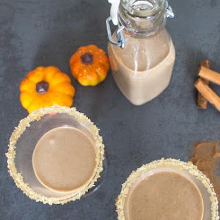 Homemade Pumpkin Pie Cream Liqueur.