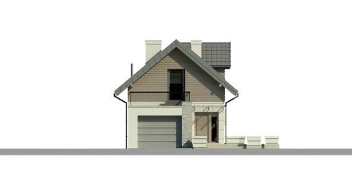 Dom przy Migdałowej 2 - Elewacja przednia