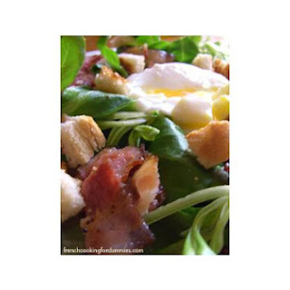 Soft Cooked Egg and Bacon Salad